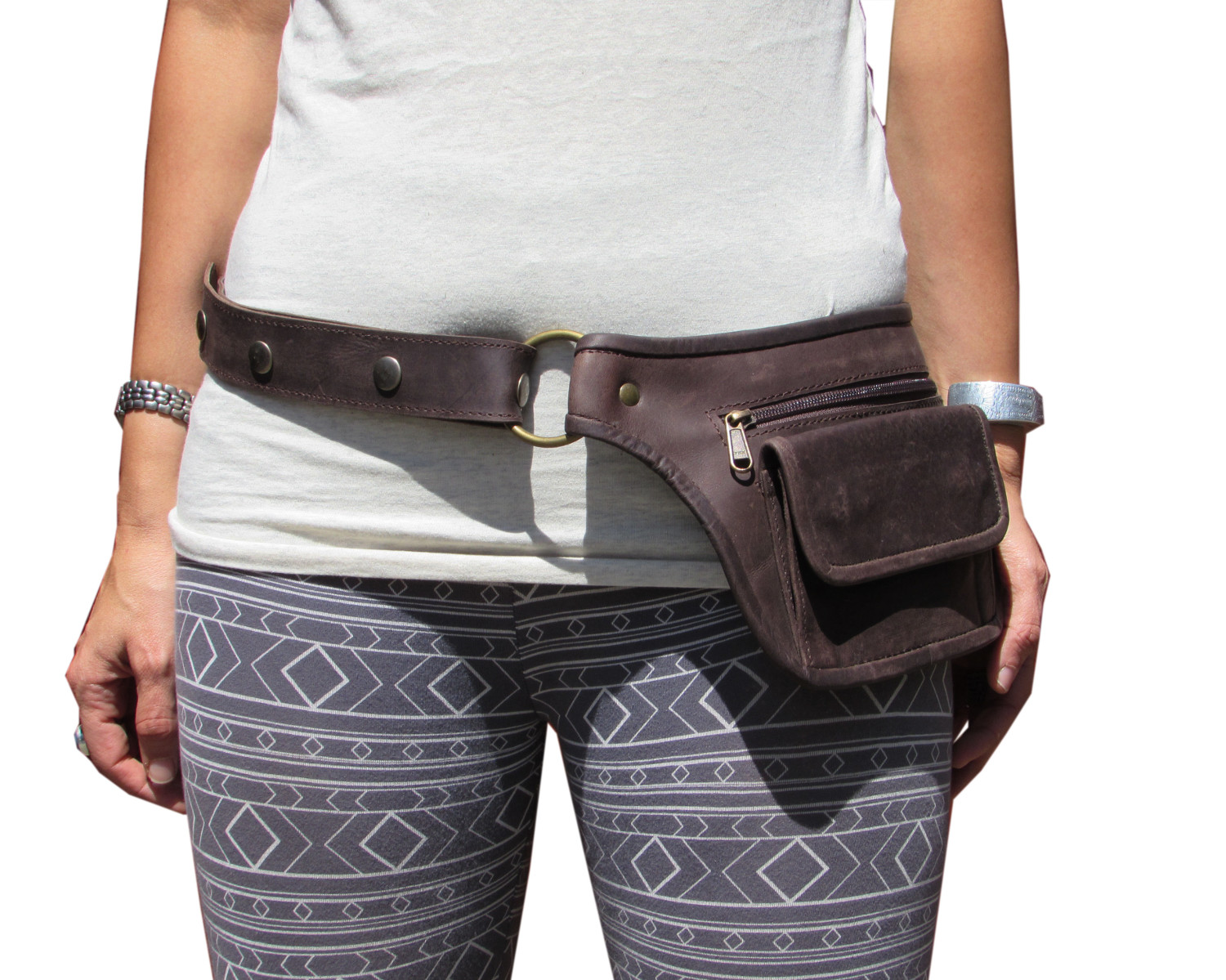 Leather Travel Belt Pouch